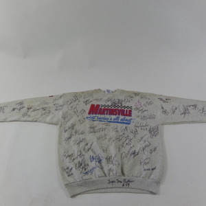 XXL MARTINSVILLE MULTIPLE DRIVER AUTOGRAPHED SWEAT SHIRT # auto4